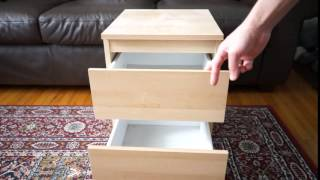 ikea kullen 2 drawer chest close up