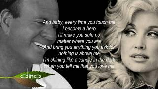 JULIO IGLESIAS & DOLLY PARTON   WHEN YOU TELL ME THAT YOU LOVE ME Lyrics   YouTube