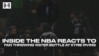 Chuck, Shaq, Kenny Smith, Ernie Johnson React To Celtics Fan Throwing Water Bottle At Kyrie Irving