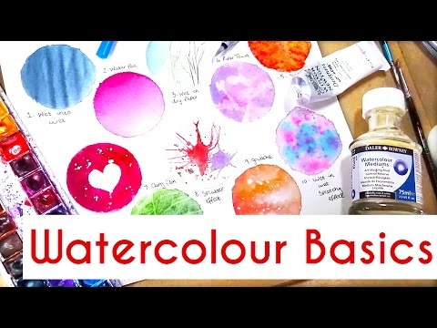 10 Easy Watercolour Techniques For Beginners: Watercolour painting tutorial, tips & basics