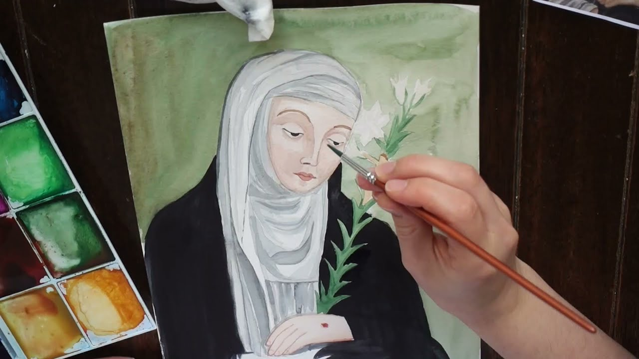 St Catherine of Siena | Watercolour Process Video