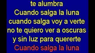 Cuando Salga La Luna - Los Puntos - karaoke Tony Ginzo