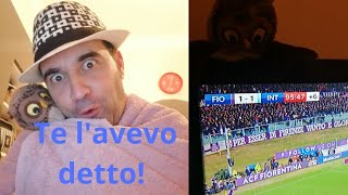 Fiorentina Inter 1-1 te l'avevo detto che stasera ti mangi una bella bistecca alla Fiorentina 🦉🤣