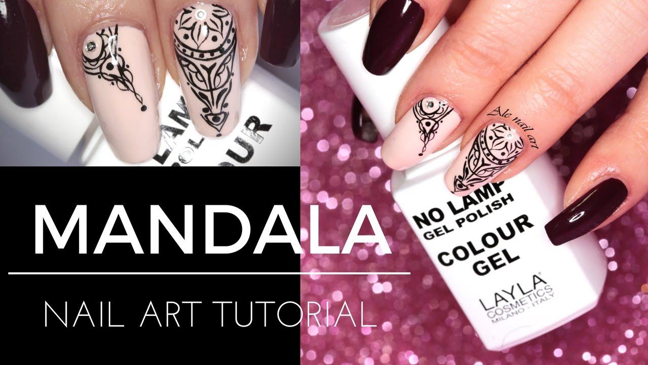 MANDALA NAILS | Ale nail art - YouTube