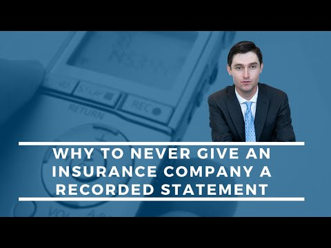 Why You Should NEVER Give A Recorded Statement To An Insurance Company | Explained By A REAL LAWYER