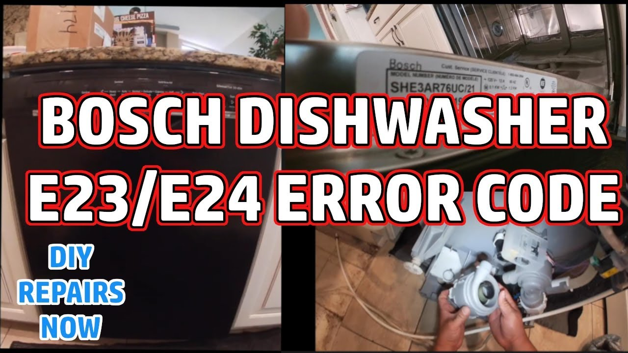 How to Fix Bosch Dishwasher E23/E24 Error Code / Making Lound Noise | Model  SHE3AR76UC/21