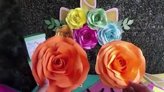 Evdeki Kağıtlarla Hemen Yapmak İsteyeceksiniz :) Kağıttan Dev Çiçekler DİY 113