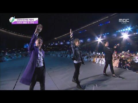 JYJ - Only One (Incheon Asian Games Opening) [eng + rom + hangul + karaoke sub]