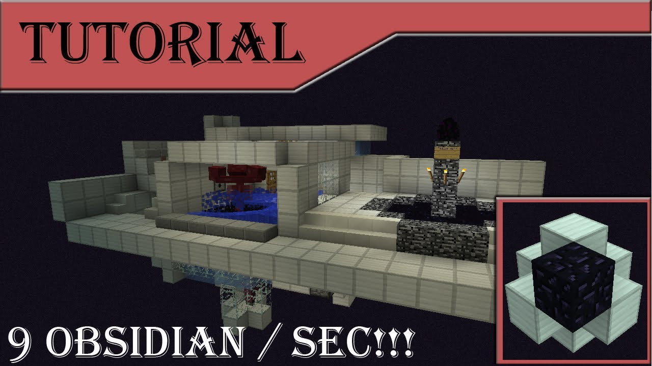 9 Obsidian Sec Automatic Wither Farm Tutorial 1 7 4