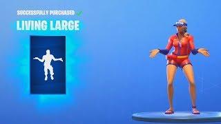 NEW LIVING LARGE GO GO GO Dance Emotes Fortnite Item Shop Update August 10