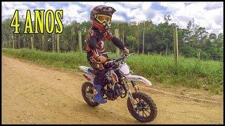 Presente Surpresa | Ganhando Uma Mini Moto de Natal | Guilherme 4 Anos MXF 50cc
