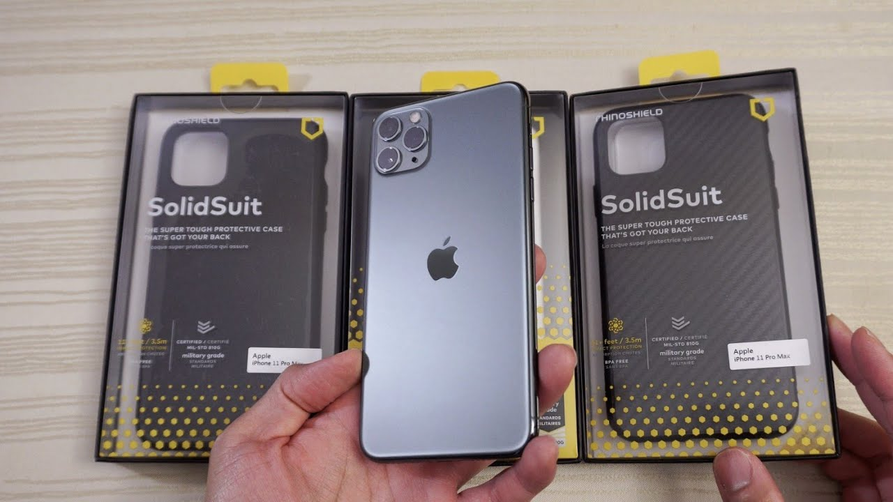 Rhinoshield Protective Cases For The Iphone 11 Pro Max Youtube