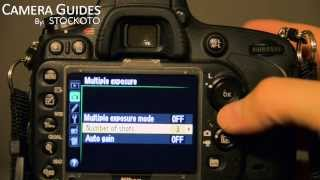 How to set Multiple Exposure mode on a Nikon D600