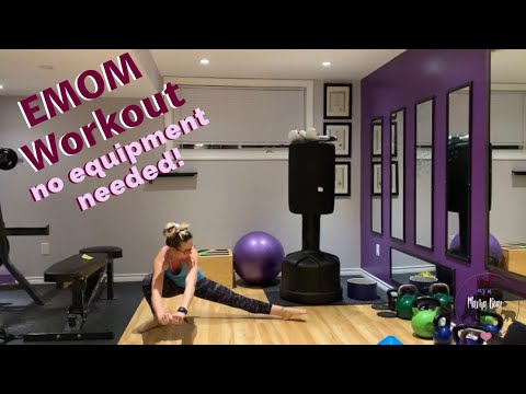 4 exercise 12minute athome emom workout no equipment