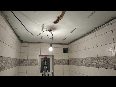 Cделал потолок в ванной. Потолок в ванной за несколько минут своими руками.