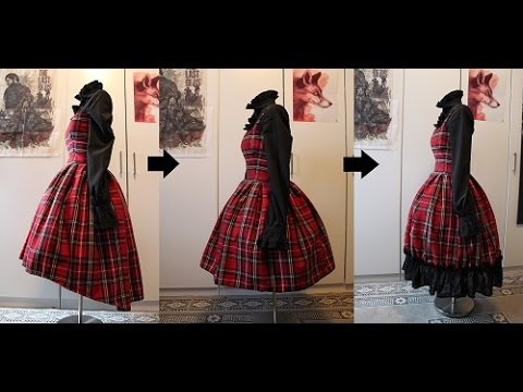 DIY: Making a lolita dress or skirt longer or shorter (tutorial ...