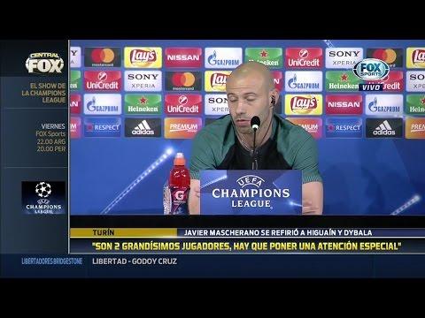 """Mascherano: """"Higuaín y Dybala no asustan pero son grandes jugadores"""""""
