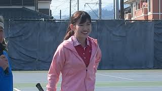 AKB48 Team 8, Akari Sato,Tennis event openning talk, 2019.3.2 Asia ...