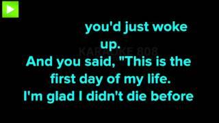 First Day Of My Life ~ Bright Eyes Karaoke Version ~ Karaoke 808