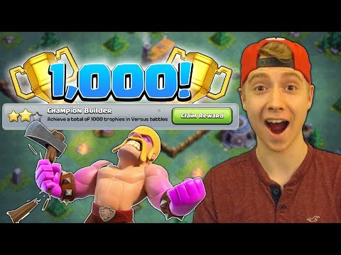 1,000 TROPHIES = FREE GEMS! + PUSH to 3,000?! (New Series) | Clash of Clans