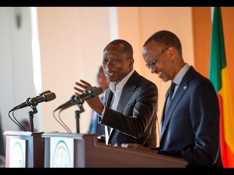 President Kagame and President Patrice Talon of Benin hold a joint press conference