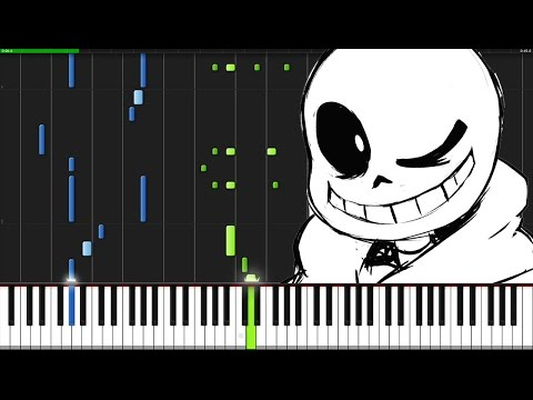 sans. - Undertale [Piano Tutorial] (Synthesia)