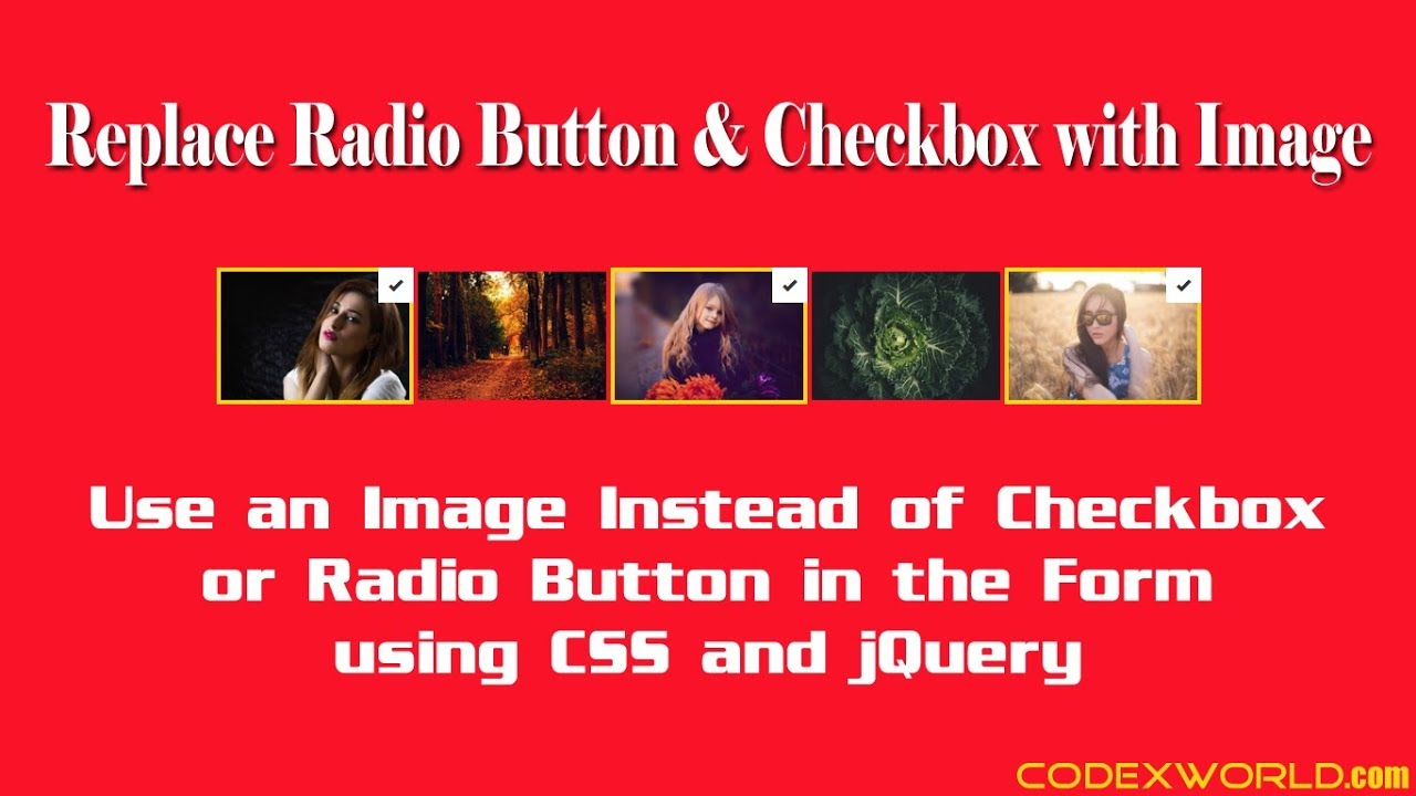 Replace Radio Button and Checkbox with Image using jQuery