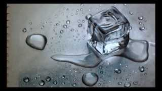 Crazy Realistic drawing 3D - Block of Ice