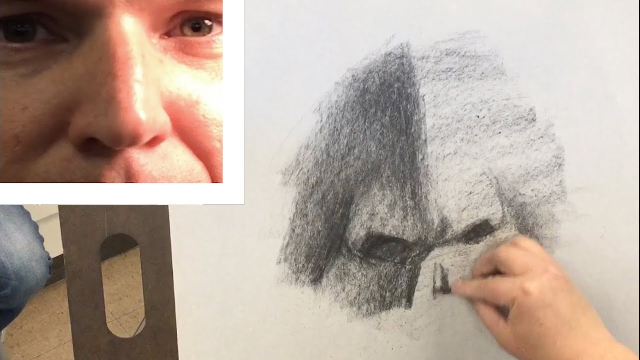 How To Draw A Nose With Vine Charcoal