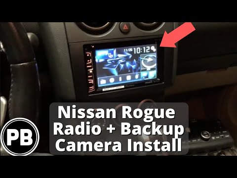 2008 - 2010 nissan rogue stereo install (pioneer avh-x2700bs) and backup  camera install - youtube