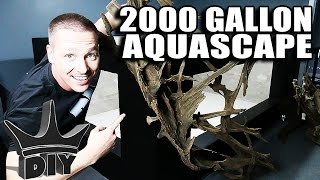 AQUASCAPING THE 2000 GALLON AQUARIUM LIVE!!! thumbnail