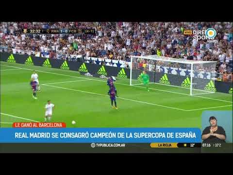 Real Madrid se consagró Campeón de la Supercopa española
