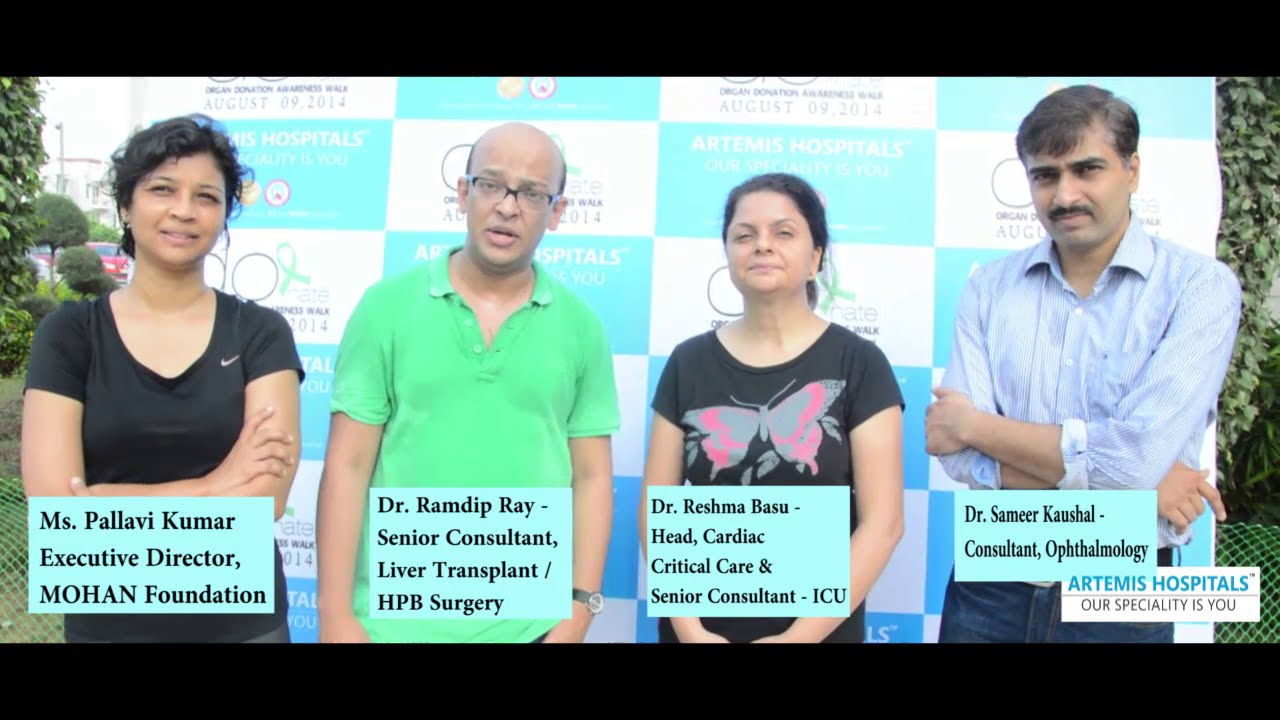 Artemis Hospital doctors speak about the need of voluntary organ donation
