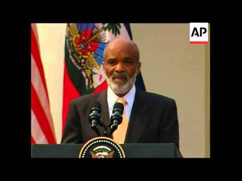 Obama meets Haiti president Preval at White House, Bill Clinton