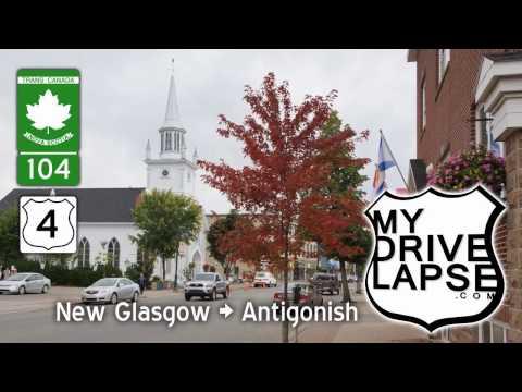 New Glasgow to Antigonish, Nova Scotia Dashcam Drive