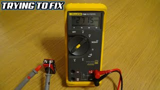 Trying to FIX a FLUKE 73 MULTIMETER which Measures 9V as 3000V