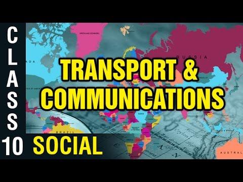 Transport And Communications | 10th Class Social Studies | Digital Teacher