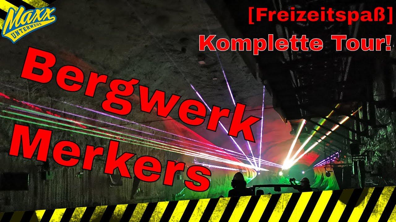 [Freizeitspaß] Bergwerk Merkers   Komplette Tour   Lasershow   Kristallgrotte