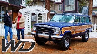 Driving The 1988 Jeep Grand Wagonner Around The Californian Mountains   Wheeler Dealers