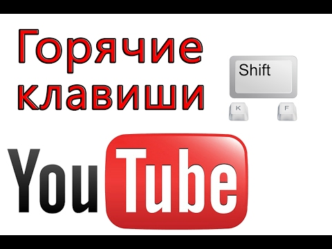 Горячие клавиши YouTube Keyboard shortcuts on YouTube