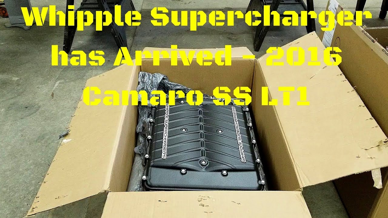 2016 Camaro SS Whipple Supercharger Unboxing