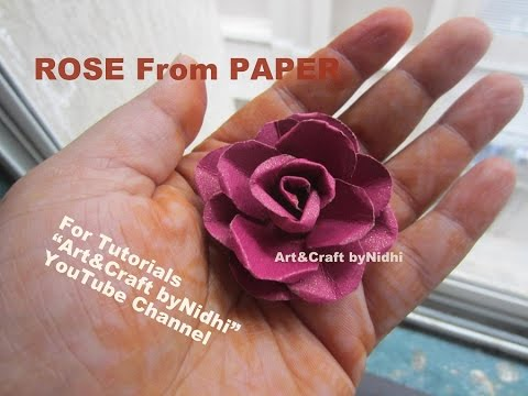 How To Make Tiny Rose Flower From Waste Wedding Card Recycle Craft