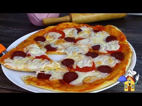 Домашняя Пицца за 30 минут! Быстрое Тесто без Дрожжей!