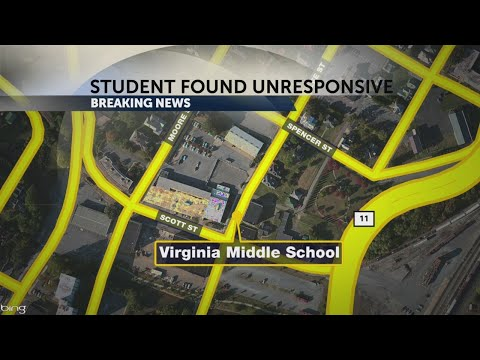 Student found unresponsive at Virginia Middle School, sent to hospital