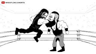 Roman Reigns vs Braun Strowman Payback Cartoon