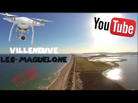 mon sud vu du ciel villeneuve l s maguelone plage by lab youtube. Black Bedroom Furniture Sets. Home Design Ideas