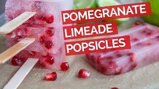 Pomegranate Limeade Popsicle Recipe