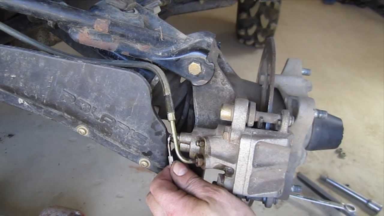 hight resolution of how to bleed atv brakes one person technique polaris sportsman and many four wheelers youtube