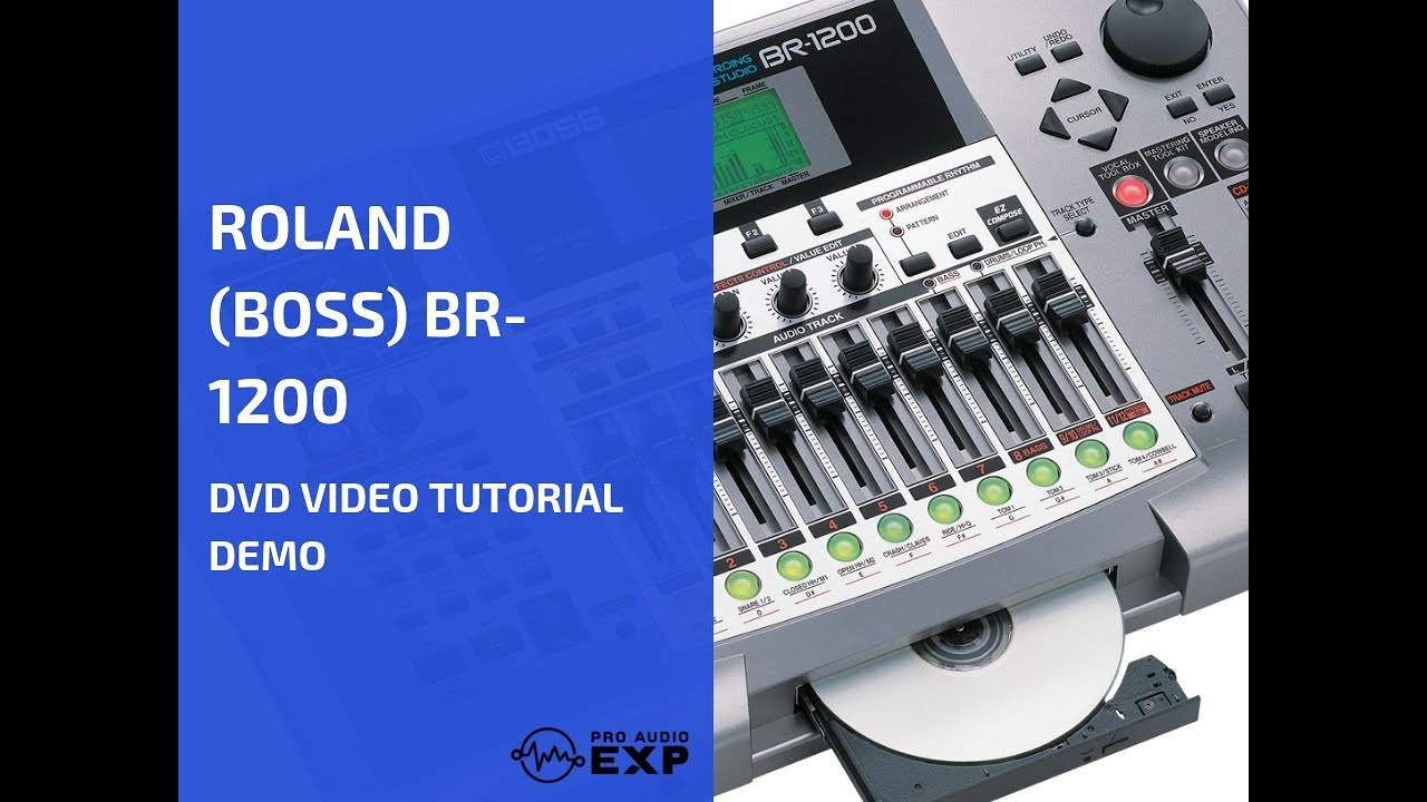 Roland (Boss) BR-1200 DVD Video Tutorial Demo Review Help