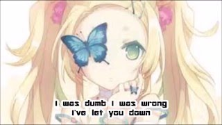 About you now~Miranda Cosgrove~Nightcore+lyrics